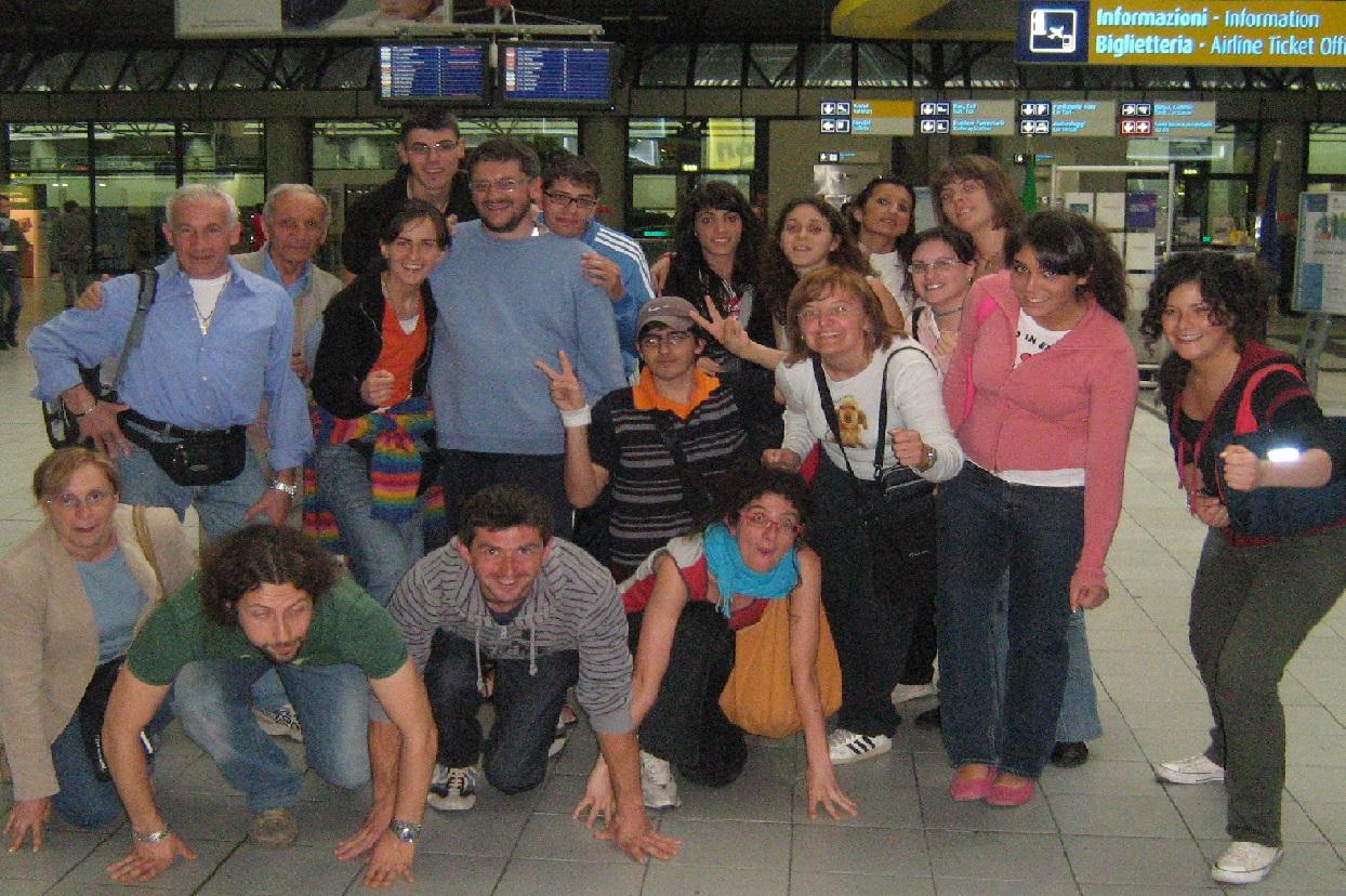 2008-La partenza di Marco e Cristina