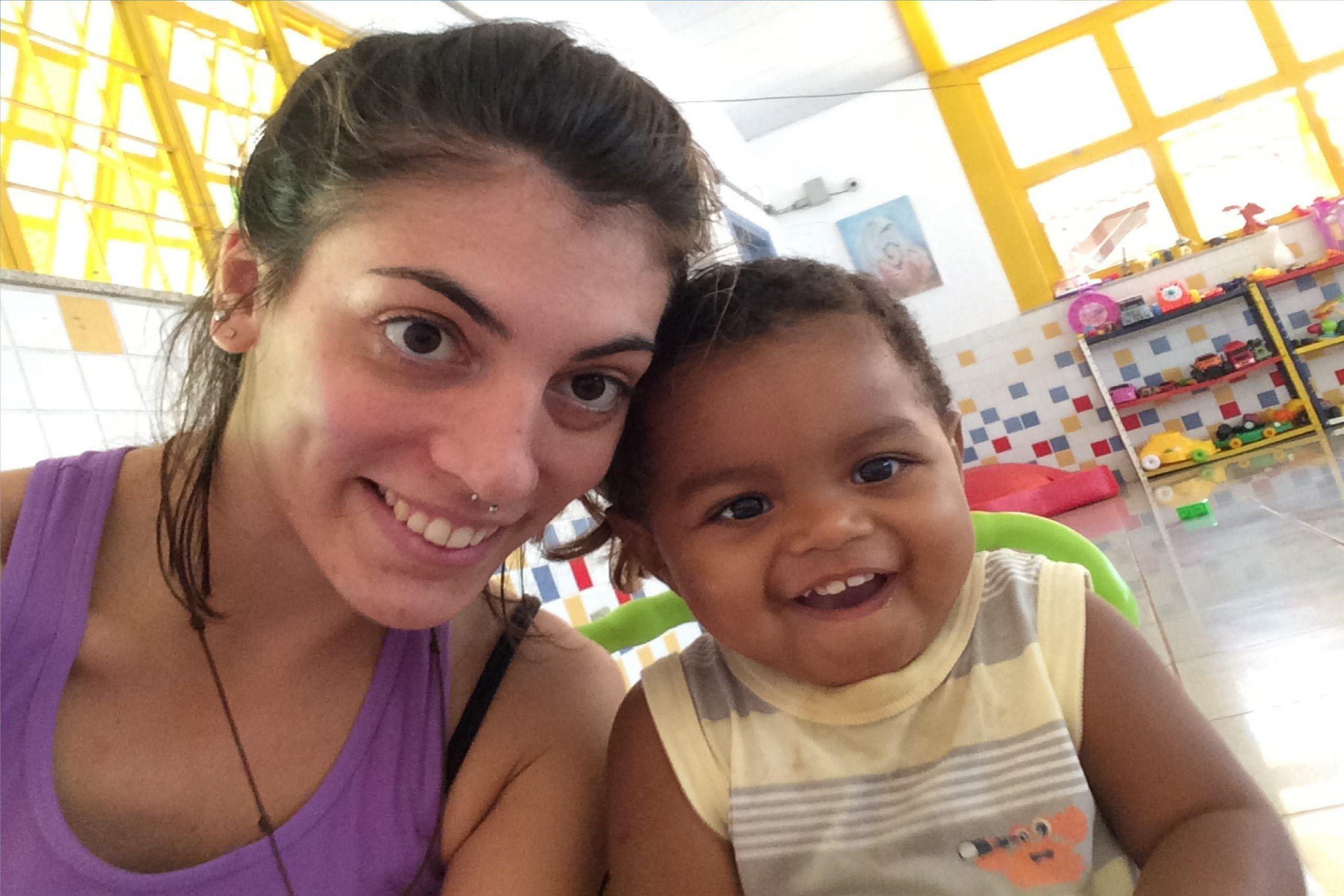 2016-La volontaria Alessia in Brasile